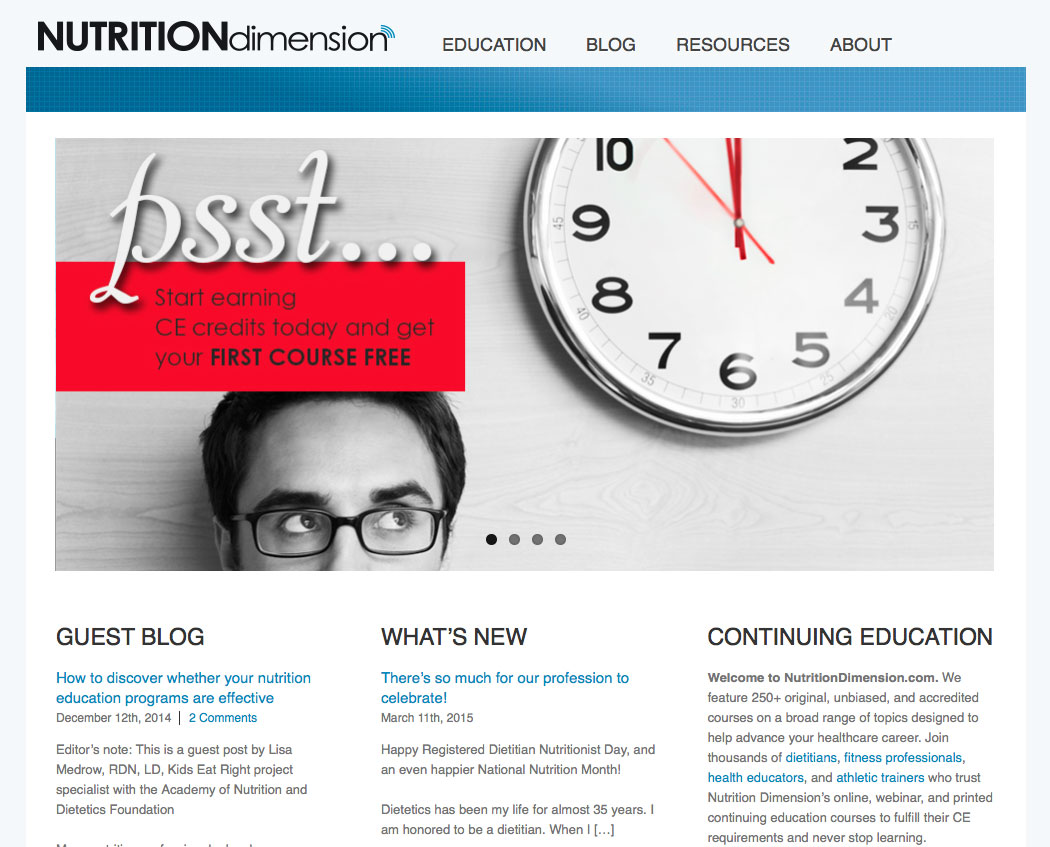 Nutrition Dimension Site